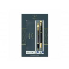 Комплект Химикалка и писалка Паркер Parker IM Black Chrome Retractable GT