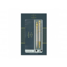 Комплект Химикалка и Ролер Паркер Parker IM Brushed Metal Retractable GT